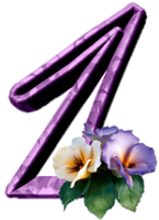 "Chiffres ""Fleurs"" 27e7f815"