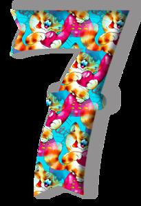 Chiffres animaux 7a12d3ba
